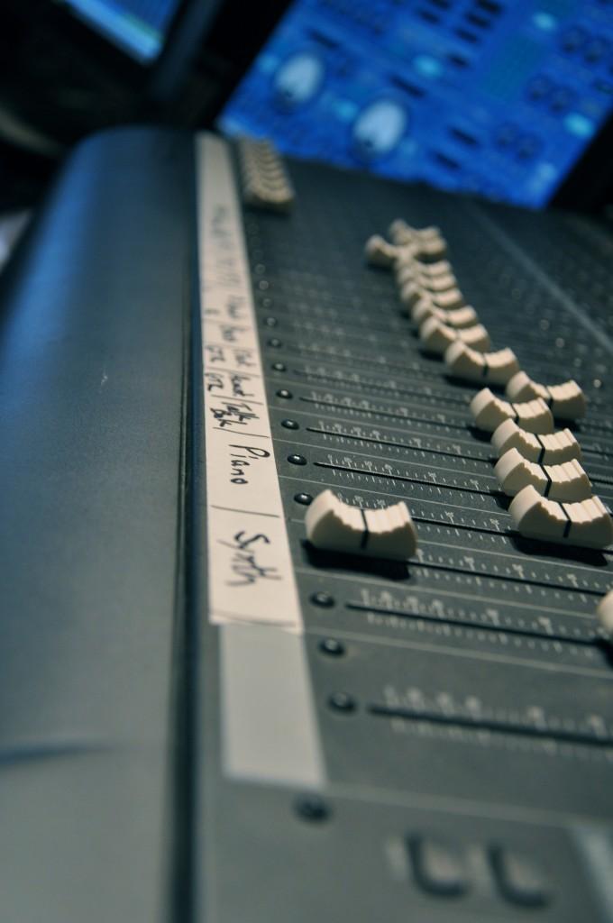 closeup of the sound board