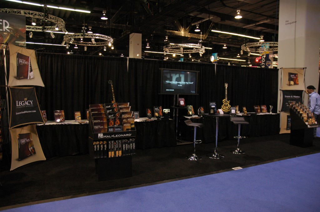 the learn and master booth at NAMM 2011