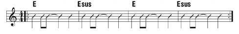 chord exercise for Esus