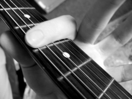 index finger barre chord