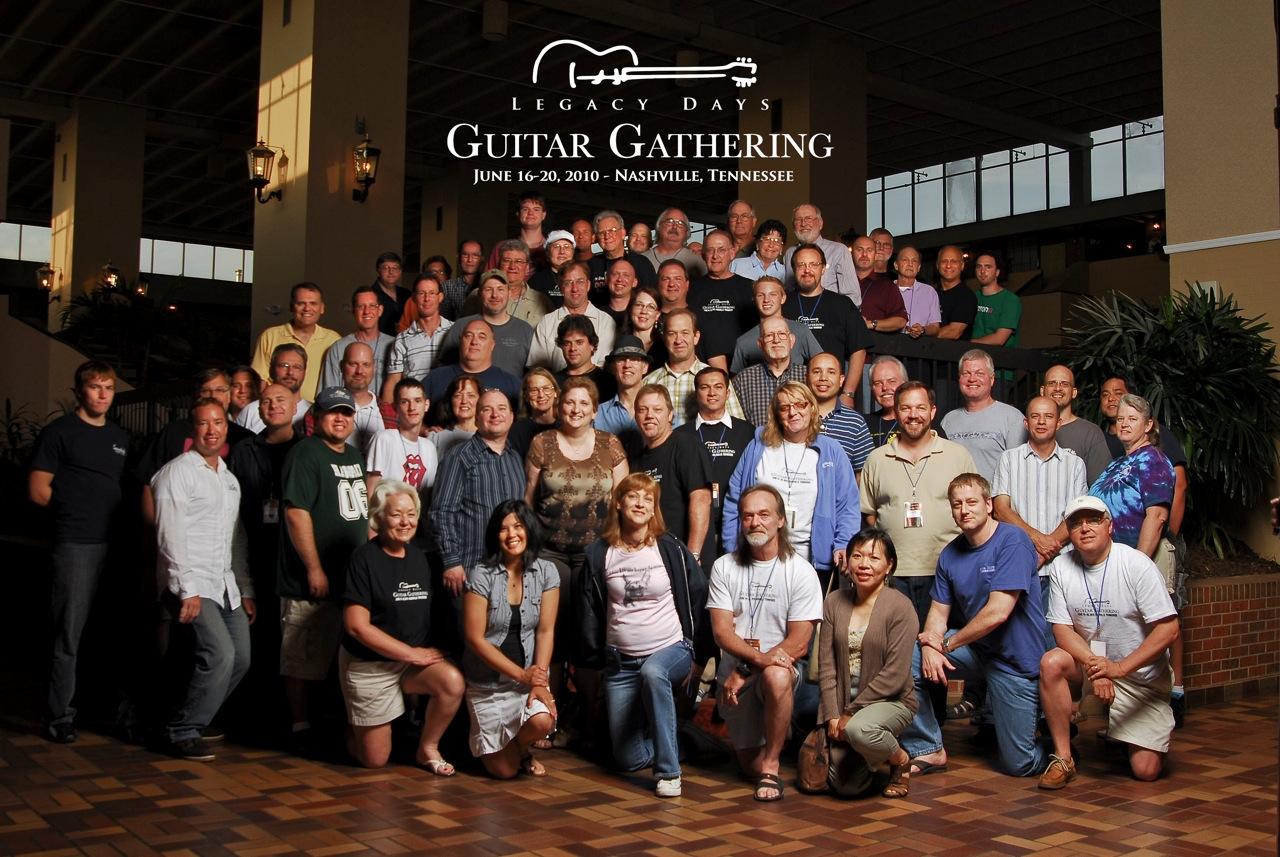 group photo at Guitar Gathering 2010