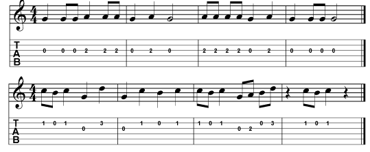 finger exercises for the third string