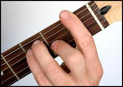 barre chords on a guitar