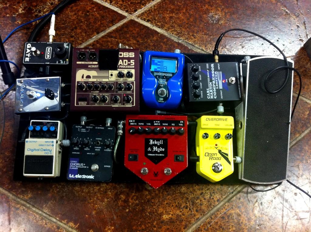 Steve Krenz's pedal board