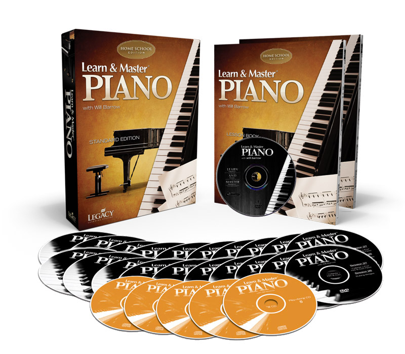 Learn and master piano homeschool 11 dvds 5 cds books.