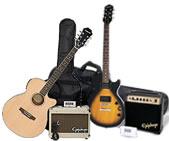 Now Available - Epiphone Acoustic and Electric Player Packs!