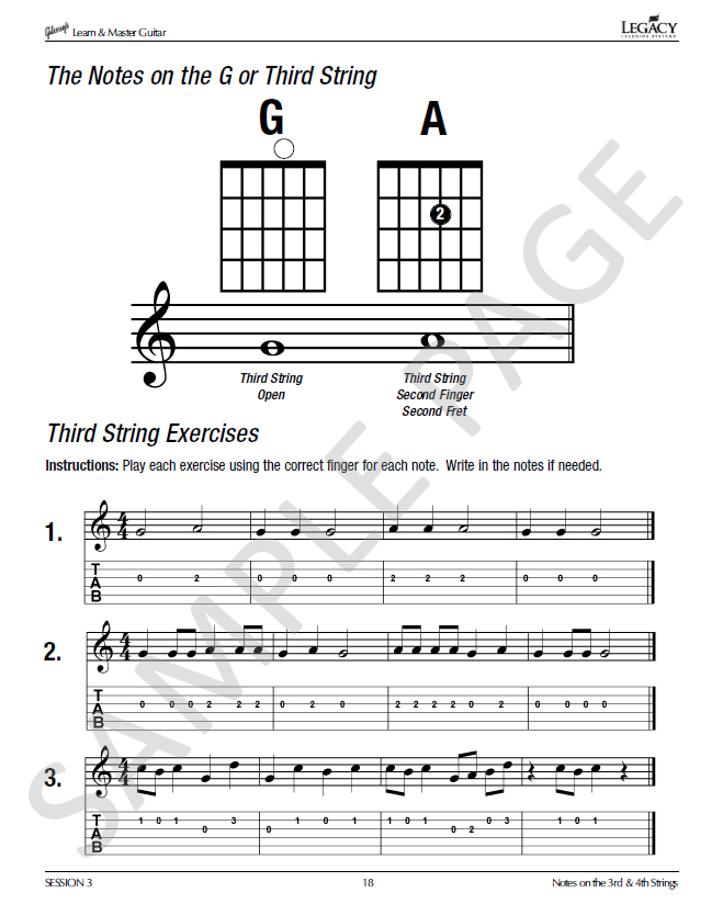 guitar lesson book in gibson 39 s learn master guitar course. Black Bedroom Furniture Sets. Home Design Ideas