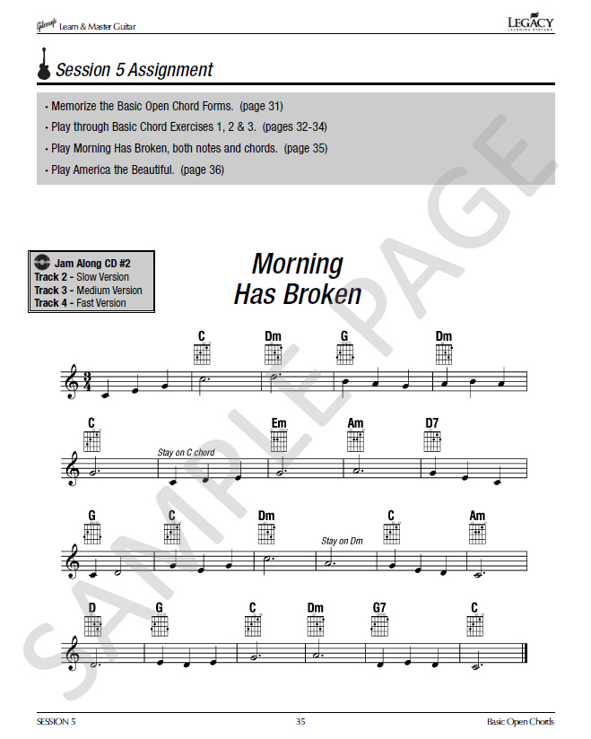Lesson Book In Gibsons Learn Master Homeschool Guitar Course