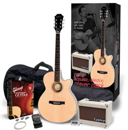 Epiphone's PR-4E Acoustic Player Pack and Gibson's Learn and Master Guitar (Expanded Edition) Bundle