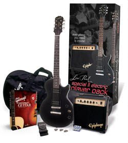 Epiphone's Special II Electric Player Pack and Gibson's Learn and Master Guitar (Expanded Edition) Bundle